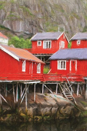 Red Fishing Huts - Lined Notebook with Margins: 101 Pages, Medium Ruled, 6 x 9 Journal, Soft Cover