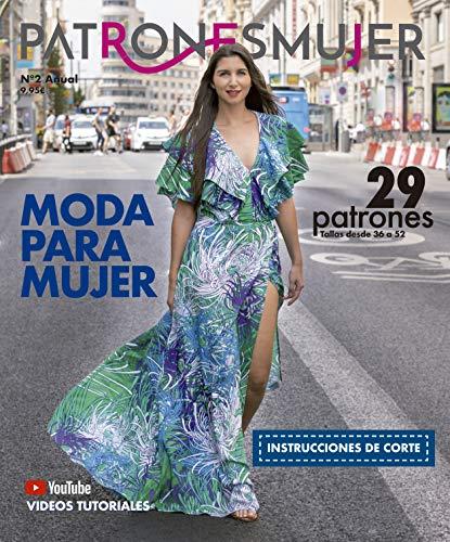 Revista PATRONESMUJER nº2. 29 patrones de ropa para mujer. Tallas desde la 36 a la 52. Tutoriales paso a paso en vídeo(Youtube).