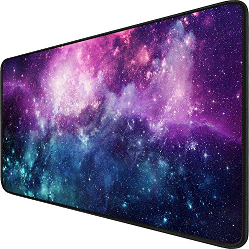 Gaming Mouse Pad, 31.5x15.7x0.12 inch Waterproof Computer Keyboard Mouse Mat Non-Slip Mousepad Rubber Base and Stitched Edges for Game Players, Office, Study, Esports Pros, Home, Desktop