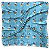 スカーフ ネッカチーフ こいのぼり 60x60cm 正方形 薄い ハンカチ シュシュ 髪飾り 春夏 海辺 旅行 通勤 オフィス