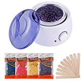 Hair Removal Waxing Kit, Wax Warmer with 4 PC Hard Wax Beans (14.1oz)