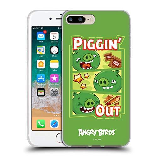 Head Hülle Designs Offiziell Zugelassen Angry Birds Piggin Out Schluessel Kunst Soft Gel Handyhülle Hülle Huelle kompatibel mit Apple iPhone 7 Plus/iPhone 8 Plus