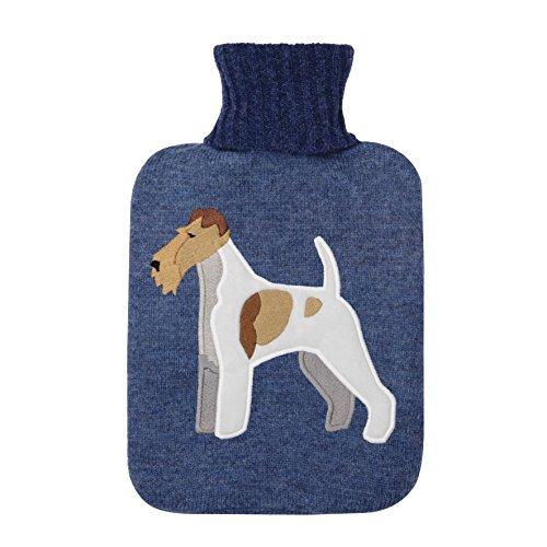 Aroma Home–Botella de agua caliente de punto Fox Terrier