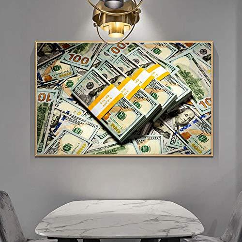 Moderne Kunst rollt Dollarplakate und Leinwanddrucke Kunstwandbilder rahmenlose Gemälde auf dem Wandbild der Wohnzimmerdekoration 30x45cm