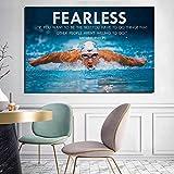QZHSCYB Michaeles Phelpses Motivationszitate Sport Poster