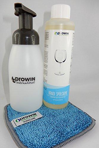 ProWin Handi 250 ml & Schaumspender + Duo-Pad Hurricane 14 cm x 14 cm