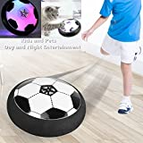 AnrayDiroct Hover Soccer Ball with Colorful LED Lights with a Soft & Safe Foam Bumper,Disk Football Kids Toy for Indoor or Outdoor use,Best Gift for Boys and Girls