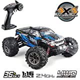 Hosim High Speed 36km/h 4WD 2.4Ghz Remote Control Truck 9130, 1:16 Scale Radio Conrtolled Off-Road RC Car Electronic...