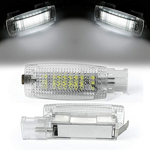TFWYYJ 2pc LED Interior Sol Visera vanidad Espejo luz lámparas de Lectura de luz para Skoda Fabia Superb Seat Leon Alhambra MK1 MK2 Altea Toledo (Color Temperature : 6000K, Emitting Color : White)