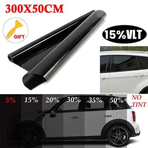 Alivier 50 * 300 cm finestrino per Auto Protezione UV Pellicola Adesiva Pellicola per vetri oscuranti Pellicola 15% / 20% / 25% / 35% / 50% per la Pro