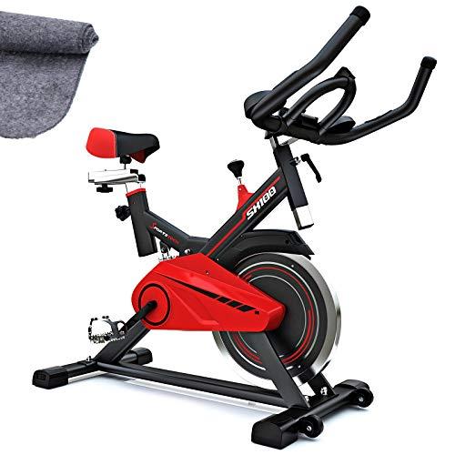 Sportstech Cyclette Professionale | Speedbike con volano da 13kg & Ebook | Bici-Hometrainer con Eventi Video & App multiutente | Fitness da casa | Indoor Bike Fino a 120 kg | SX100