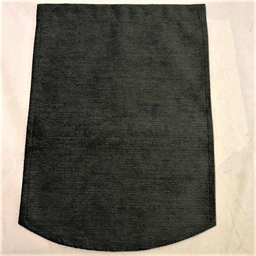 linen702 Chenille Mini Narrow Arm Covers (pairs) or Chair Backs (single), Choice of Colours. Cream, Gold, Burgundy Black, Slate Grey, Green or Brown (Slate Grey, Chair Backs (50849))