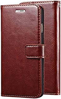 Leather Wallet Flip Book Cover Case for Samsung Galaxy Grand 2 G7102 7106 - (Brown)