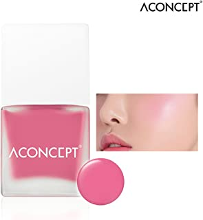[ACONCEPT] Cheek Me 10g (#4 Love me) - Watercolor Cheek Liquid Blusher, Easy to Blush Makeup, Not Sticky Fresh Oil Base Water Fit Texture, Natural Daily Color