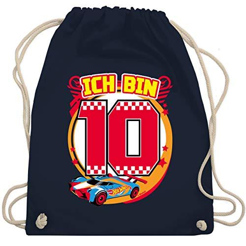 Shirtracer Hot Wheels Tasche - Ich bin 10 - Rennauto - Unisize - Navy Blau - Hot Wheels - WM110 - Turnbeutel und Stoffbeutel aus Baumwolle