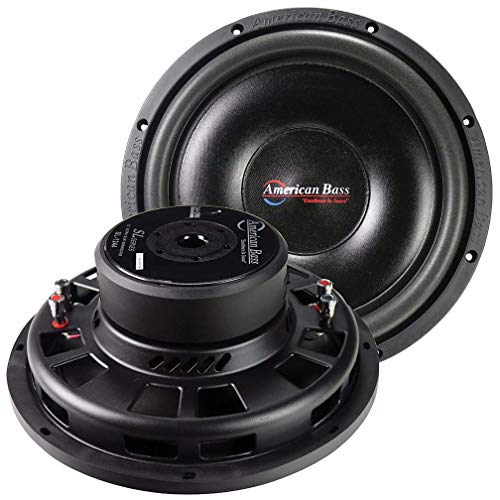 "American Bass 12"" Shallow Woofer 600 Watts Dual 4 Ohm Voice Coil"