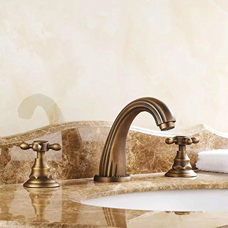 Galvanik Galvanik Retro Retro Wasserhahn Armatur Armaturen antik bronze Farbe antike Badezimmer antike tippen Messing pool 3 Stück Wasserhahn kostenloser Versand GZ -8204, Gold