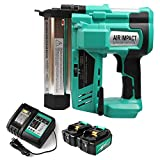 Enegitech 18 Gauge Cordless Brad Nailer/Stapler and 18V Lithium-Ion Battery 3.0AH, 18V 2 in 1 18GA Nail/Staple Gun Li-ion Battery Operated for Home Improvement, and DC18RC Battery Charger