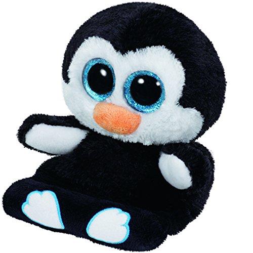 TY Peek-a-Boo Plüsch Handyhalter Pinguin Penni, 15cm