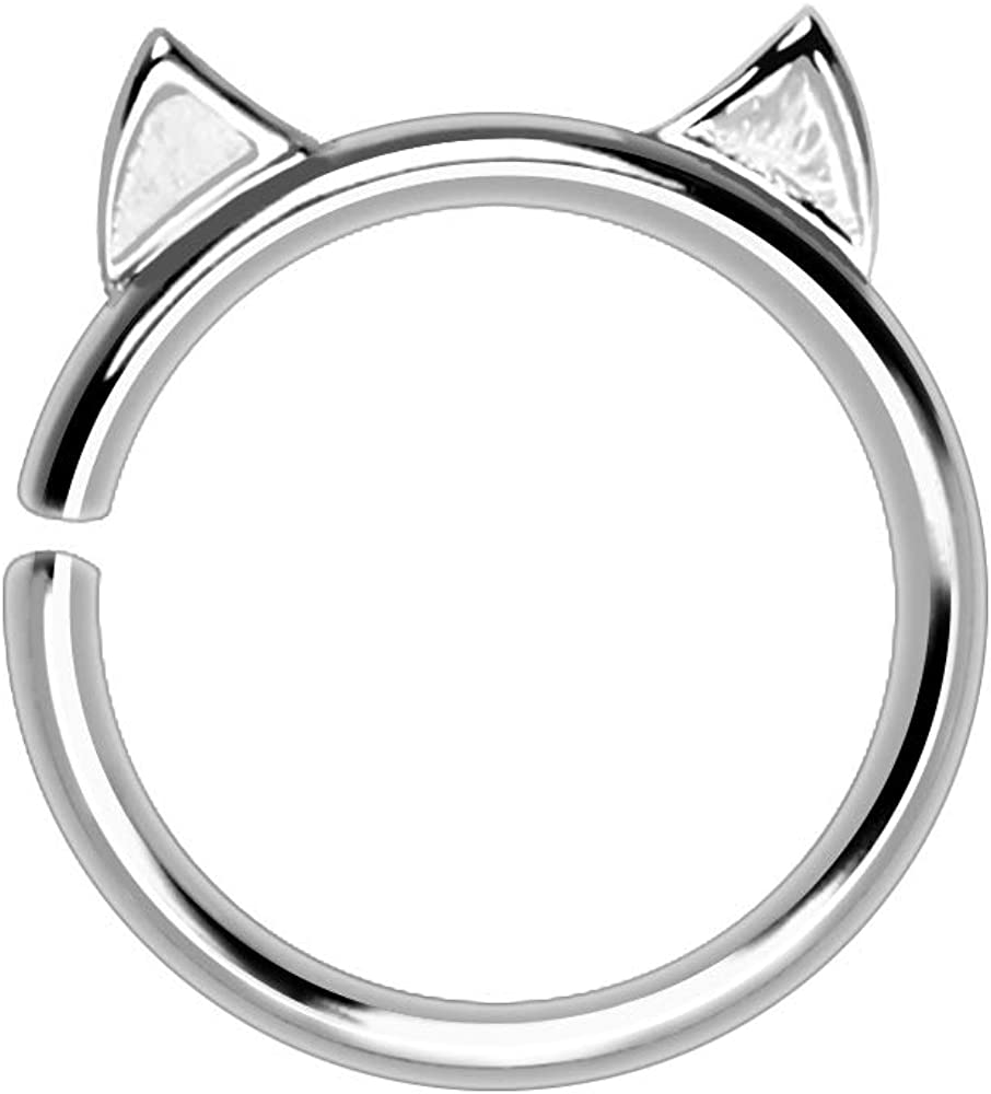 Cocobul Body Jewelry 316L Stainless Steel Cat Cartilage Tragus Earring 16 GA 3/8