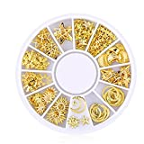 200 Count/Pack 3D Mini Nail Art Stud Stickers Glitter Metal Charming Nail Supplies Fashionable DIY Nails Beauty Decorations Starry Sky Series Diy Plate Module Gel Tool