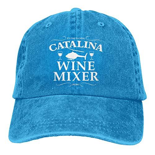 Lkbihl Catalina Wine Mixer Logo Unisex Adult Cap Adjustable Cowboys Hats Baseball Cap Fun Casquette Cap Blue