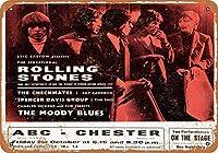 Shimaier 壁の装飾 メタルサイン 1965 Rolling Stones at Chester, England ウォールアート バー カフェ 縦20×横30cm ヴィンテージ風 メタルプレート ブリキ 看板