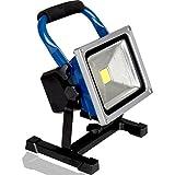 kraftmax 20W Akku LED Baustrahler/Flutlicht/kabellose Arbeitsleuchte - 1800 Lumen / 8800mAh