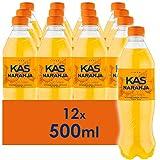 KAS Naranja - Refresco con Sabor - Botella - 12 x 500 ml