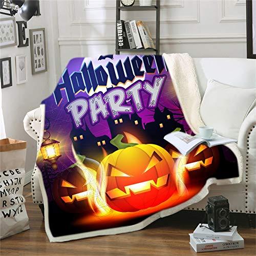 ZHYY Benutzerdefinierte DIY Print Halloween Kostüme Horror Scary Halloween Decke Dicke warme Anti-Pilling tragbare Kinder Erwachsene Decke (Farbe : 10, Size : 130 * 150cm)