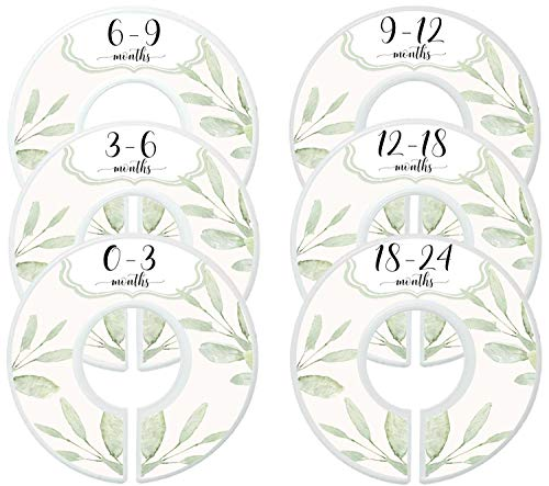 Mumsy Goose Baby Girl Clothes Dividers Nursery Closet Dividers Closet Organizers Botanical