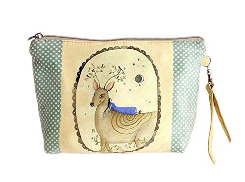 créative et les cerfs drôles toile sacs cosmétique/bourse