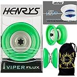 Henrys VIPER Flux YoYo (Vert) String Trick (1A/4A) Professionnelle Roulement à Bille...