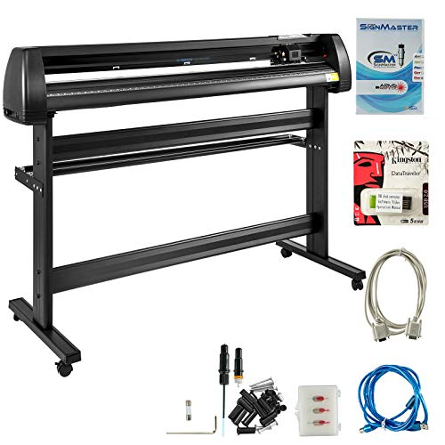 VEVOR Vinyl Cutter 53 Inch Vinyl Cutter Machine Vinyl Sign Cutting Plotter Starter Bundle Kit Vinyl Plotter with Floor Stand for Label Making