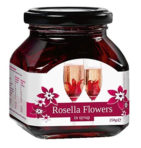 Rosella Flowers Wild Hibiscus in Sirup, Hibiskusblüte, 250 gramm