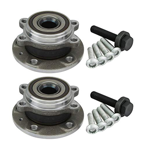 WA513253 Pair Front Wheel Hub Bearing Assembly Left or Right Compatible with 2009-2013 Audi A3 2014-2016 Audi Q3 2008-2014 Audi TT 2005-2015 Volkswagen VW Jetta 2006-2015 VW Passat 2009-2015 VW Tiguan