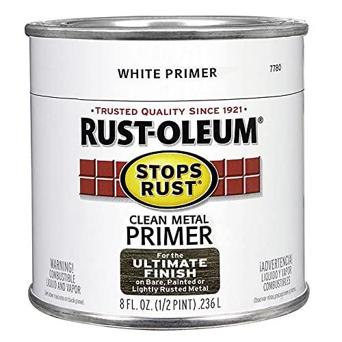 Rust-Oleum 7780730 Stops Rust Clean Metal Brush On Primer, Half Pint