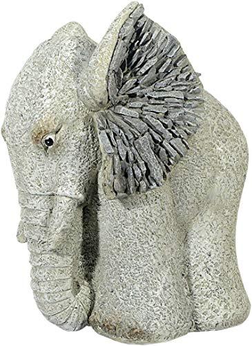 Figure de jardin éléphant avec d'optique de pierre