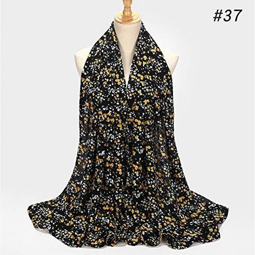 MYTJG Lady sjaal Dikke Bubble Chiffon Hoofdband Print Blauw Gestreept Lange Sjaal Wrap Design Sjaal