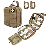 LIVANS Tactical First Aid Pouch, Molle EMT Pouches Rip-Away Military IFAK Medical Bag Outdoor Emergency Survival Kit Quick Release Design Include Red Cross Patch