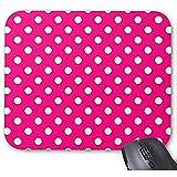 Smity Mausunterlage 30 * 25 * 0,3 cm Mauspad Fashion Designed Mousepads Pink Polka Dot Pattern Mauspad