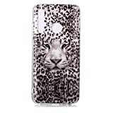 Fatcatparadise Funda para Honor 10 Lite [con Protector Pantalla], Carcasa Silicona Claro de Luna Protector TPU Suave Anti-Choque Ultra-Delgado Funda para Apple Huawei Honor 10 Lite(Tigre Leopardo)