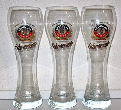 Erdinger Weißbiergläser/Schneeweiße / 3er Pack/Weißbierglas/Bierglas/Weizenglas
