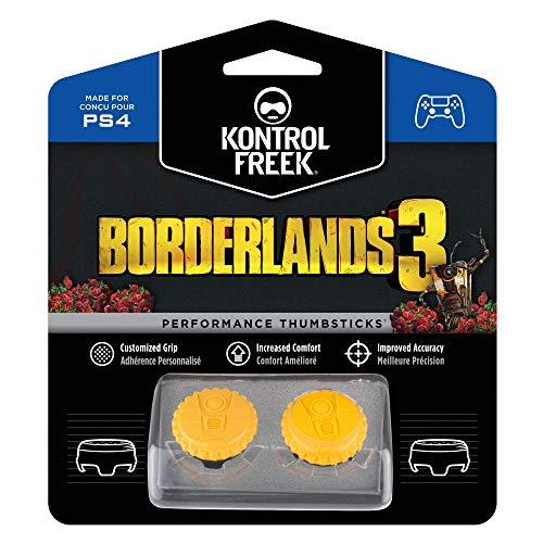 KontrolFreek Borderlands 3 Claptrap Performance Thumbsticks Para PlayStation 4 (PS4) | 2 Thumbsticks de media altura Convexos | Amarillos