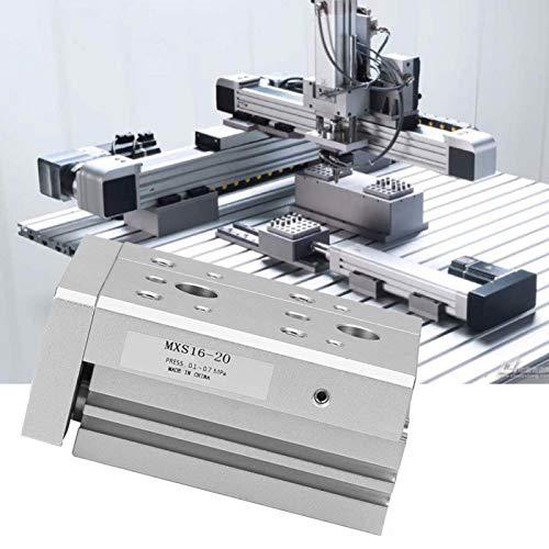 Emoshayoga Cilindro de riel de guía Cilindro de Aire neumático de Alta precisión para maquinaria de automatización para máquina de tazón de Papel(MXS16-20)
