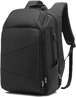 Men Laptop Backpack Laptop Rucksack Large Daypack Weekender Bag College Bag Travel Daypack for 17.3'' Laptop with USB Charging