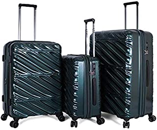 Giordano Luggage Trolley Bags For Unisex 3 Pcs, Green, 1630214