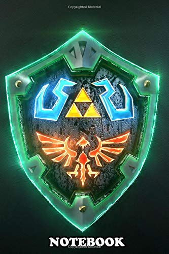 """Notebook: 3d Link Hylian Shield In Autodesk Mayapost , Journal for Writing, College Ruled Size 6"""" x 9"""", 110 Pages"""
