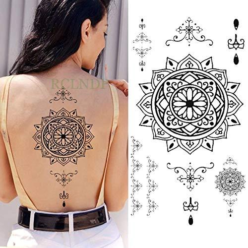 tzxdbh 3pcs Impermeable Tatuaje Temporal Apliques Collar de ...