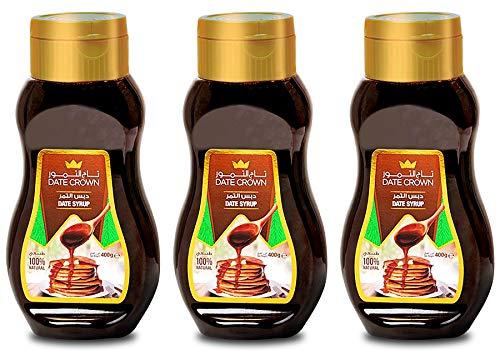 デーツクラウン デーツ シロップ 400g x 3個 (ナツメヤシ / 天然 / 無添加 / 砂糖不使用 / 非遺伝子組換え) 自然な甘み フルーツソース